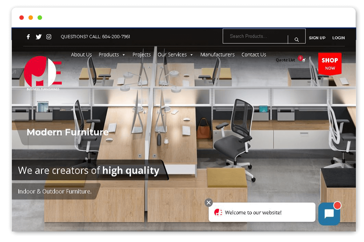 Mefurn website design and Develop by saintcode Vancouver Canada