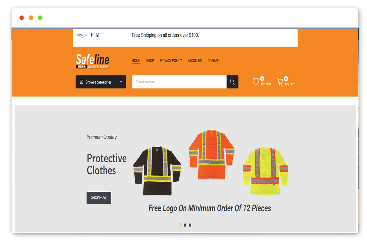safeline worksafety website Design and web Develop by saintcode Vancouver Canada