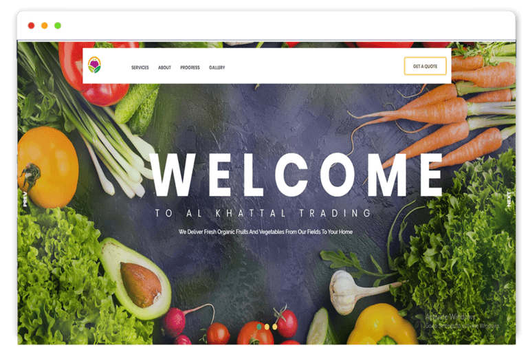 alkhattal trading website Design and web Develop by saintcode Vancouver Canada