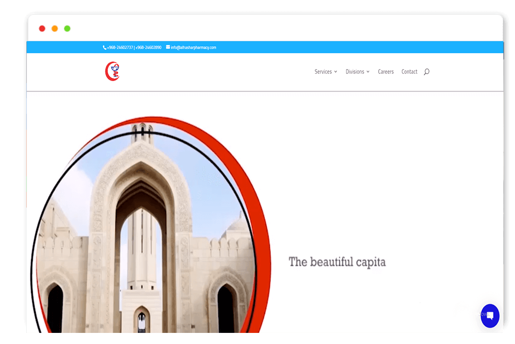 alhashar pharmacy website Design and web Develop by saintcode Vancouver Canada