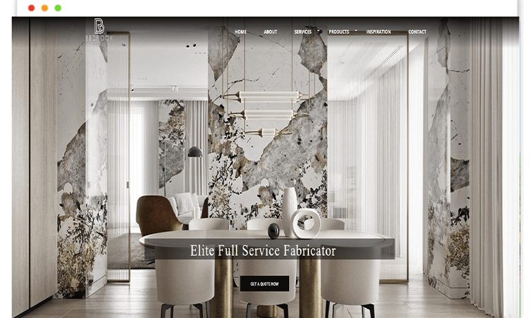bed rock stones website design and Develop by saintcode Vancouver Canada