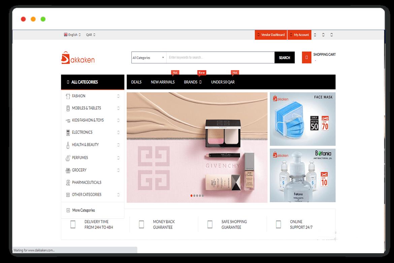 dakkaken website Design and web Develop by saintcode Vancouver Canada