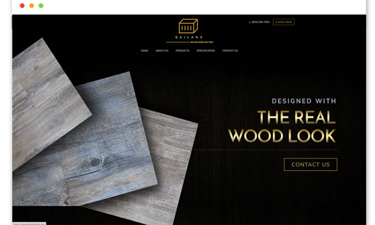 Gailans holding website Design and web Develop by saintcode Vancouver Canada