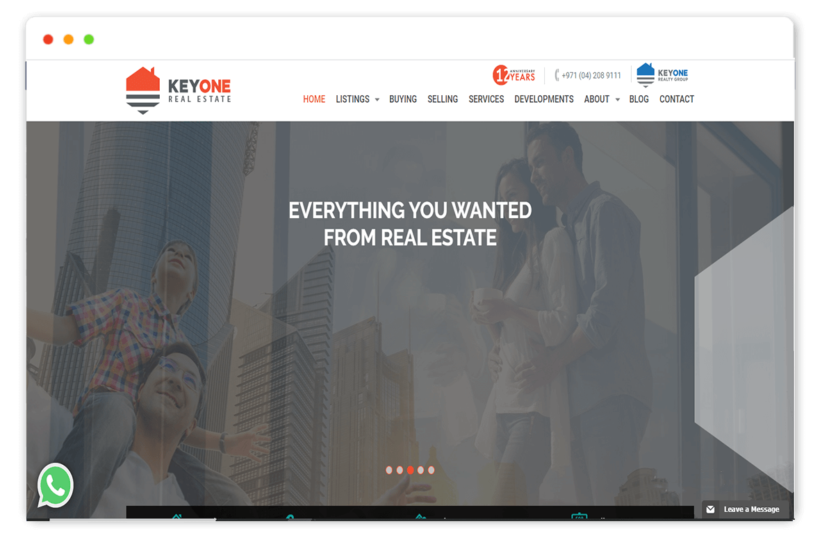 keyone real estate website Design and web Develop by saintcode Vancouver Canada