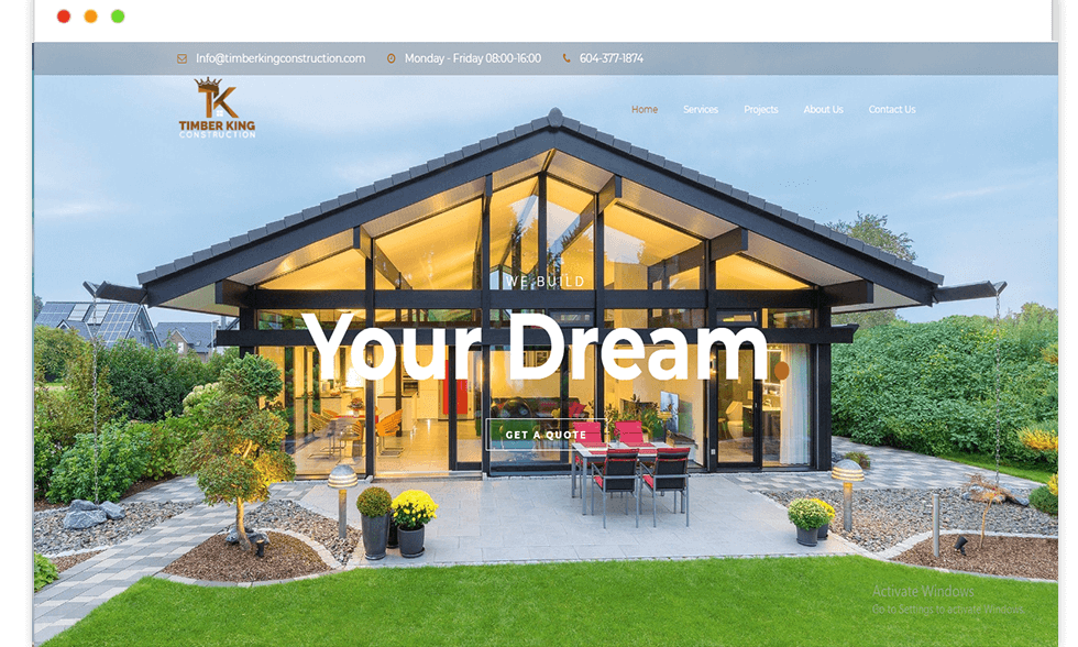 Timber-king website design and Develop by saintcode Vancouver Canada